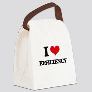 I love Efficiency Canvas Lunch Bag