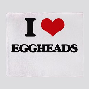 I love Eggheads Throw Blanket