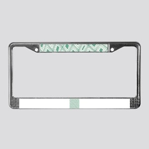 Unique Lucite Green Abstract D License Plate Frame