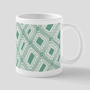 Unique Lucite Green Abstract Diamonds Mug