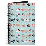 Black pug Journals & Spiral Notebooks