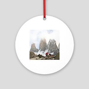 Torres del Paine National Park, C Ornament (Round)