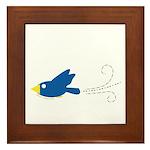 Twin A Flying Bird Framed Tile