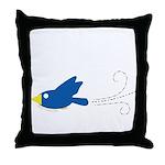 Twin A Flying Bird Throw Pillow