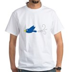 Twin A Flying Bird White T-Shirt