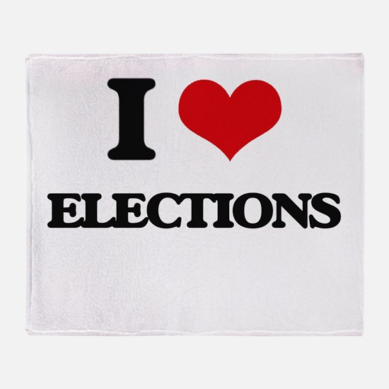 I love Elections Throw Blanket