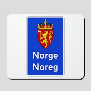 Border Sign, Norway Mousepad
