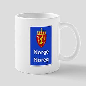 Border Sign, Norway Mug