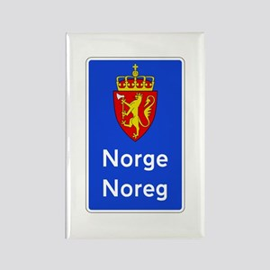 Border Sign, Norway Rectangle Magnet