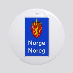 Border Sign, Norway Ornament (Round)