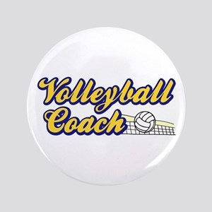"Volleyball Coach 3.5"" Button"