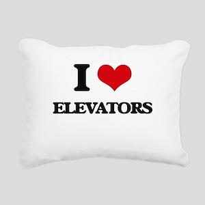I love Elevators Rectangular Canvas Pillow