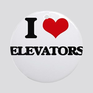 I love Elevators Ornament (Round)