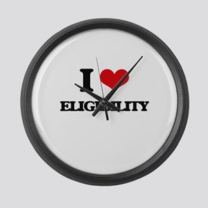 I love Eligibility Large Wall Clock