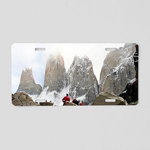 Torres del Paine National P Aluminum License Plate