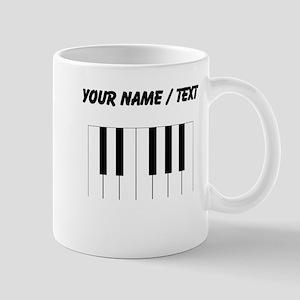Custom Piano Keys Mugs
