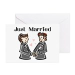 Gay Wedding 2 Grooms Greeting Cards (Pk of 10)