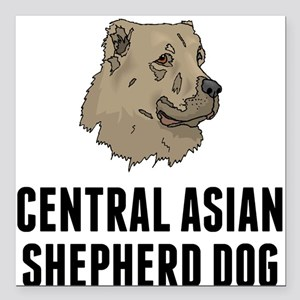 "Central Asian Shepherd Dog Square Car Magnet 3"" x"