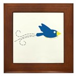 Twin B Flying Bird Framed Tile