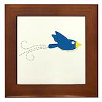 Twin B Flying Bird Framed Tile