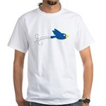 Twin B Flying Bird White T-Shirt