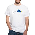Twin B Flying Bird White T-Shirt