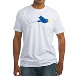 Twin B Flying Bird Fitted T-Shirt