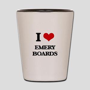 I love Emery Boards Shot Glass