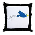 Twin B Flying Bird Throw Pillow