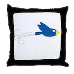 Twin B Flying Bird Throw Pillow
