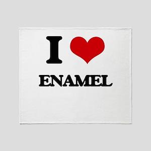I love Enamel Throw Blanket