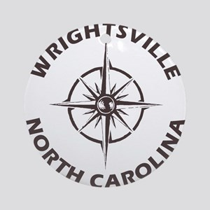 North Carolina - Wrightsville Beach Round Ornament