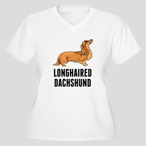 Longhaired Dachshund Plus Size T-Shirt