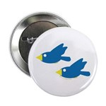 Twin Parent Birds Button