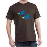 Twin Parent Birds Dark T-Shirt