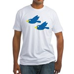 Twin Parent Birds Fitted T-Shirt