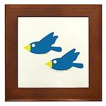 Twin Parent Birds Framed Tile