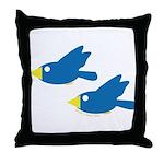 Twin Parent Birds Throw Pillow