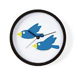 Twin Parent Birds Wall Clock