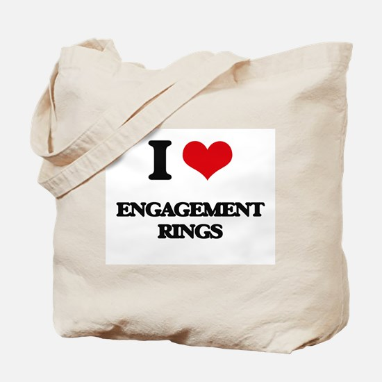 I love Engagement Rings Tote Bag