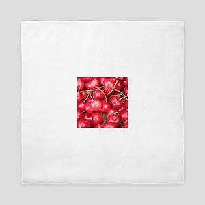 Red Cherries photography Queen Duvet