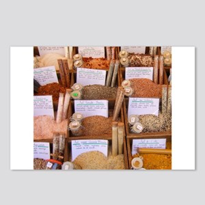 Exotic flavored colorful cooking salts Postcards (