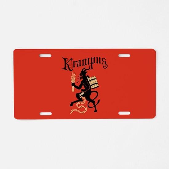 Krampus Aluminum License Plate