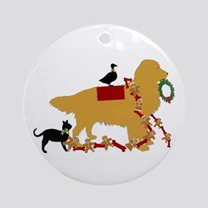 Golden Christmas Ornament (round)