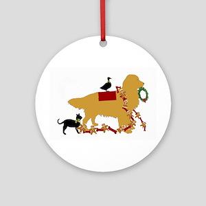 Golden Christmas Ornament (round)