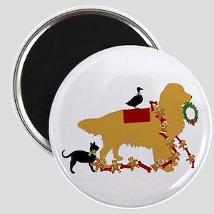 Golden Christmas Magnets