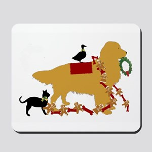 Golden Christmas Mousepad