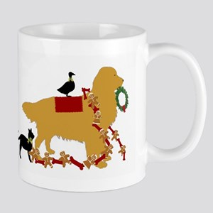 Golden Christmas Mugs
