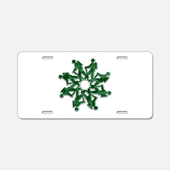 Cute Outdoor camping Aluminum License Plate