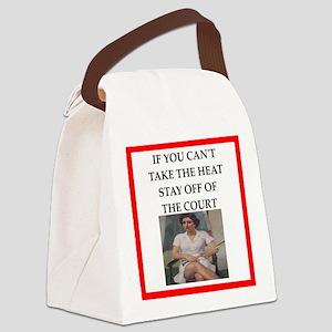 i love badminton Canvas Lunch Bag